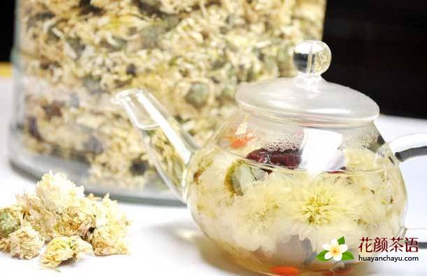 金银花菊花泡法 美容养颜清热祛痘茶